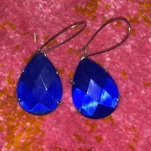 Kendra Scott cobalt Allison earring